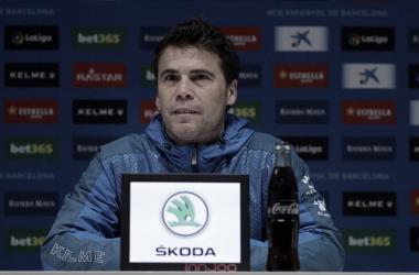 Rubi en la rueda de prensa. Foto: RCD Espanyol