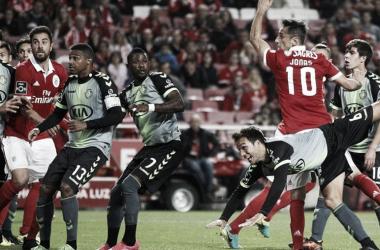 Na primeira volta, o Benfica goleou por 6-0 os Sadinos. // Fonte: Record