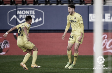 "<p class=""MsoNormal"">Yeremi Pino y Fer Niño celebran un gol / Foto: LaLiga</p>"