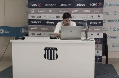 Conferencia de prensa de Alexander Medina. Foto: Facebook Club Atlético Talleres
