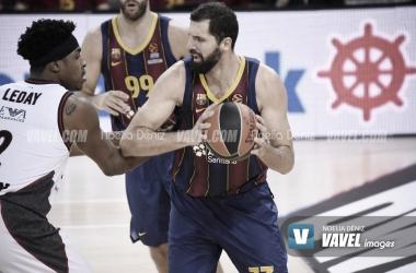 Nikola Mirotic, esta temporada en el Palau Blaugrana. Foto: Noelia Déniz.