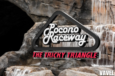 A sign marks the tunnel entrance to Pocono Raceway infield that runs under turn 2 | Brandon Stivers - VAVEL USA