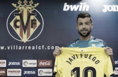 Javi Fuego ha sido presentado oficialmente tras el entrenamiento matutino / Foto: Villarreal CF