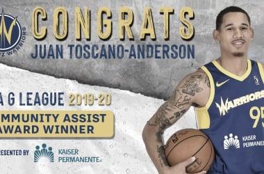 Toscano-Anderson Named NBA G-League Community Assist Award