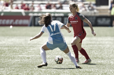 Despite constant effort from both teams, the Portland Thorns were able to take three points over the Houston Dash. | Source: Portland Thorns