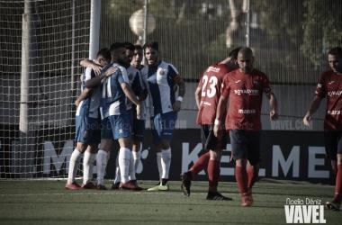 Jugadores del Espanyol celebrando uno de los goles. Foto: Vavel (Noelia Déniz)