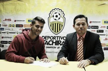 Giovanny Romero se une a la plantilla del Deportivo Táchira | Fotografía: Prensa Deportivo Táchira
