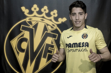 Santiago Cáseres en la presentación / Foto: Villarreal CF