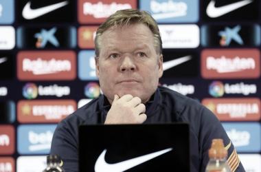 Ronald Koeman durante una rueda de prensa de la presente temporada / FOTO: FC Barcelona