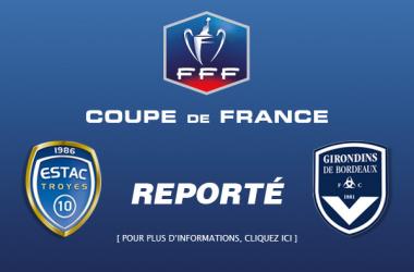 Se aplaza la semifinal de la Coupe de France entre Troyes y Burdeos