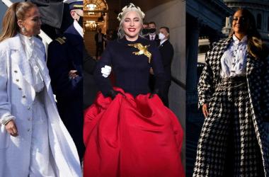 Los 'lookazos' de Jennifer Lopez y Lady Gaga para la investidura de Joe Biden