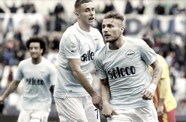 Immobile anotando el primer gol del encuentro | Foto: SS Lazio