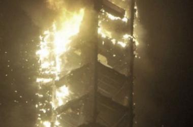 Imagen del edificio siniestrado. (Fotografía: @abedismail)