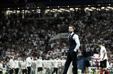 Southgate agradecido con sus jugadores a pesar de la derrota (Foto: Sitio Oficial FIFA)