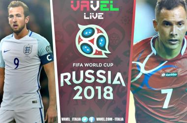 Inghilterra-Panama in diretta, Mondiale Russia 2018 LIVE (14.00)