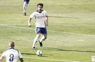Eguaras ha sido la pieza clave en el sistema de juego del Real Zaragoza / Foto: Andrea Royo   VAVEL