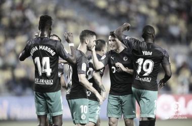 Celebración del gol de Álvaro Cejudo / Twitter oficial del Real Racing Club de Santander