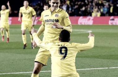 Bacca y Ünal durante un partido con el Villarreal. Foto: villarrealcf.es