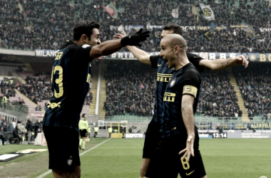 Eder y Candreva ayudan al Inter para sumar de a tres