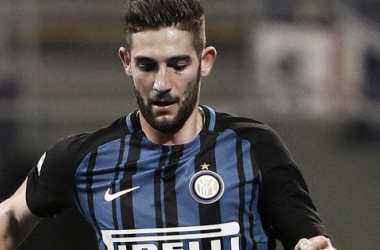 Roberto Gagliardini con la maglia dell'Inter | TWITTER @inter