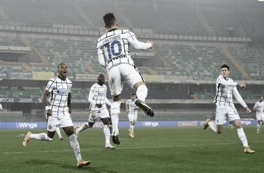 Internazionale bate Hellas Verona, conquista sétima vitória consecutiva e segue caça ao Milan
