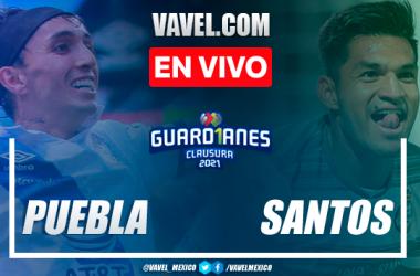 Gol y resumen del Puebla 1-0 Santos en Semifinal Liga MX 2021