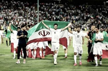 Los jugadores iraníes celebrando la clasificación. / FOTO: EFE