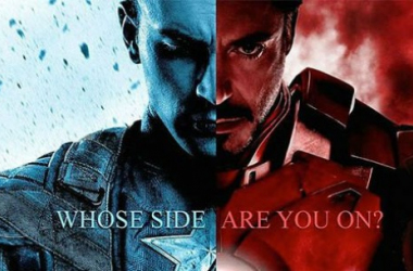 "Captain America vs Iron Man. image source ""cdn.wegotthiscovered.com"""