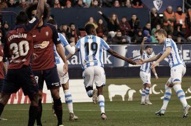 Isak celebra el gol frente a Osasuna (Foto://Real Sociedad)
