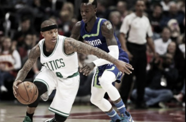 Isaiah Thomas once again came through when the Celtics needed him the most. (Photo by Jason Getz/USA Today)
