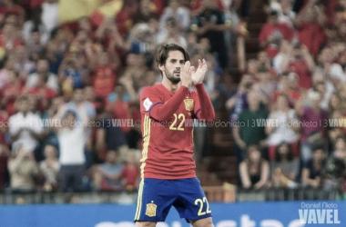 Isco en un partido con la selección española / Fuente: VAVEL