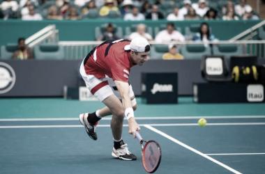 John Isner durante la final del Masters 1000 de Miami ante Federer. Foto: gettyimages.es