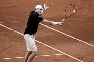 John Isner ante Roberto Bautista. (Fuente: Madrid Open)