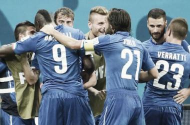 Inglaterra - Italia, puntuaciones de Italia, jornada 1 grupo D