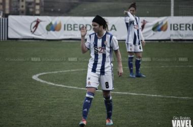 Itxaso Uriarte en un partido esta temporada. | Foto: Gio Batista / Vavel