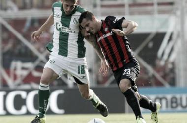 Iván Rosssi ante San Lorenzo.   Foto: Diario De Cuyo
