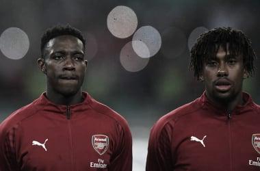 Welbeck e Iwobi antes del partido | Fotografía: Arsenal