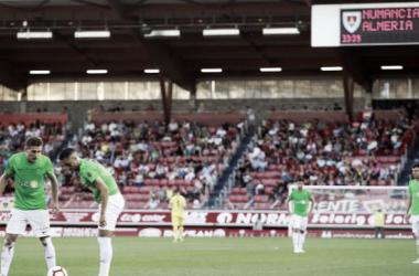 La UD Almería en el césped de Los Pajaritos | Fuente: UD Almería