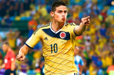 Golden Boot winner: James Rodriguez shone for Colombia during the World Cup in Brazil and will be hoping to do the same for Real Madrid
