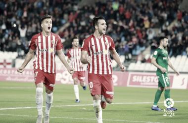 Álvaro Giménez celebrando su gol de penalti | Fuente: La Liga