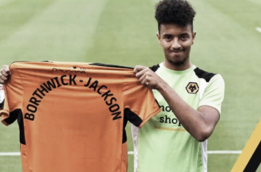 Above: Cameron Borthwick-Jackson been unveiled as a Wolverhampton Wanderers loanee | Photo: wolves.co.uk