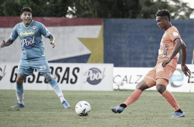 Diego Moreno (Envigado F.C) y Sebastián Salazar (Jaguares)<div>Foto: Dimayor</div>