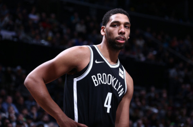 Jahlil Okafor #4 of the Brooklyn Nets looks on during the game against the Minnesota Timberwolves on January 3, 2018 at Barclays Center in Brooklyn, New York. |Nathaniel S. Butler/NBAE|
