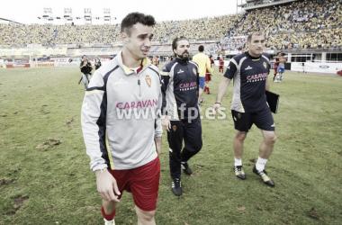 Jaime Romero tras el final del partido | Foto: LaLiga