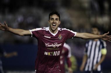 Jaime Mata celebrando uno de sus goles | Foto: Real Valladolid