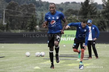 Jair Palacios, una de las ausencias. Foto: Millonarios FC.