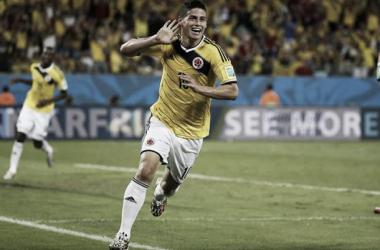 James comanda a Colombia a base de juego y goles (Foto: Caracol).