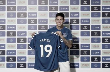 James Rodríguez llega al Everton de la Premier League