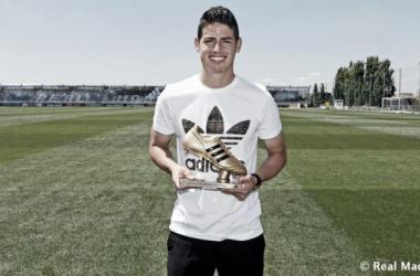 James foi o destaque da Colômbia na Copa do Mundo (Foto: Divulgação/Real Madrid)