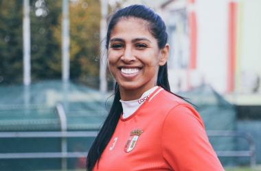 Janaína Queiroz, zagueira brasileira do SC Braga (Foto: Divulgação / SC Braga)